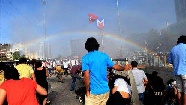 Police in Turkey blast gay pride parade with water cannons, accidentally create rainbow