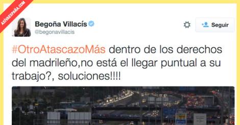 Ridículo tremendo de Begoña Villacís (Ciudadanos) criticando los atascos en Madrid