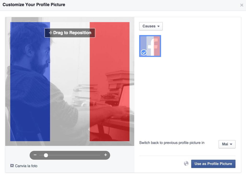 El peligro de ponerse la foto de perfil con el filtro de la bandera francesa